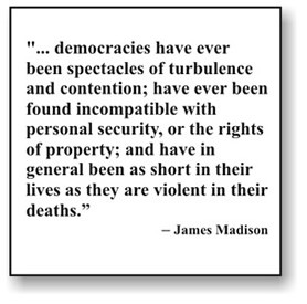 Knowing that a democracy is a government of men in which the tyranny ...