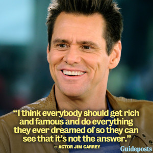 Photo of actor Jim Carrey, with Success quote