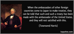 When the ambassadors of other foreign countries come to Japan to make ...