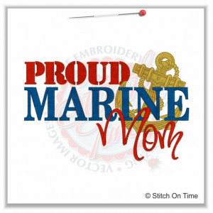 Military Mom Quotes   5148 Sayings : Proud Marines Mom 5x7