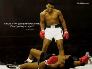 Failure is not getting knocked down