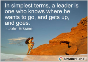 Motivational Quote - In simplest terms, a leader is one who knows ...