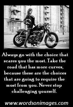 Women Biker Quotes Harley Davidson