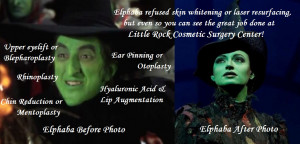take elphaba for example elphaba certainly did not want it
