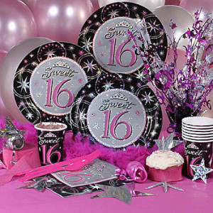 Sweet 16 Sparkle Party Pack Sweet 16 Deluxe Kit-N-Kaboodle Kit
