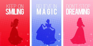 12 Disney Princess Silhouettes and Inspirational Quotes for wall art