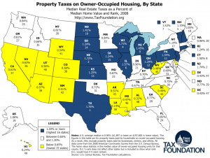 Map: Property Taxes on Owner-Occupied Housing by State