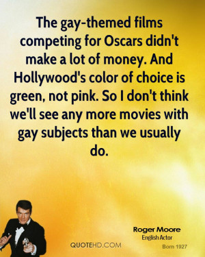 competing for Oscars didn't make a lot of money. And Hollywood's color ...