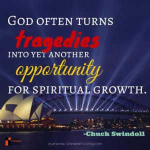 Chuck Swindoll quote | pastor prison fellowship God spiritual growth