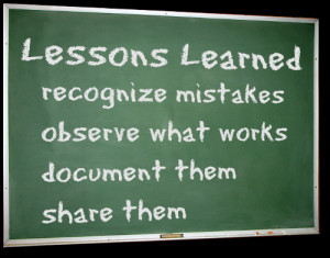 6WS - Lessons that I learnt this week