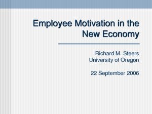 Employee Motivation Techniques - PowerPoint by jbg90402