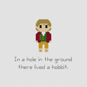 The Hobbit Bilbo Baggins Quote Cross Stitch Pattern
