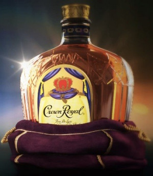 Crown Royal , a brand of whiskey, comes in purple bags.