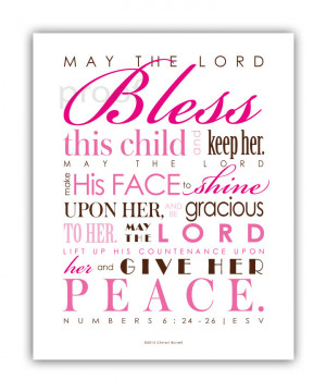 New Baby Quotes Bible Baptism gift - baby girl