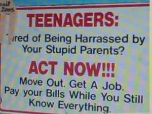 This is sound advice for teenagers