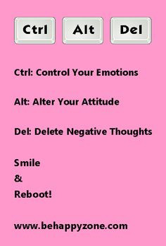 ... negative thoughts! Positive thinking, positive attitude quote. More