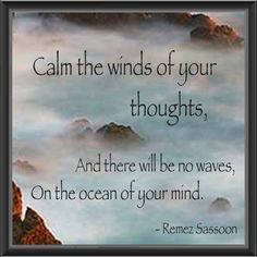 Peaceful thoughts for the day