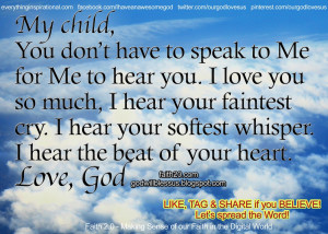 It's an honor Lord to be Your child.
