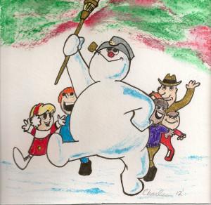 Frosty The Snowman Grew