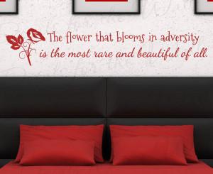 Mulan Flower Blooms Adversity Disney Girl Room Kid Nursery Vinyl Large ...
