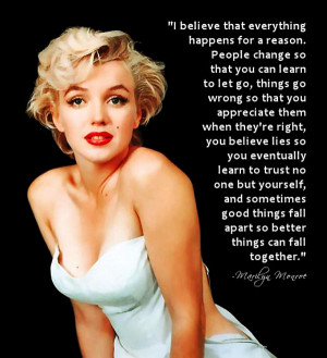 Wise words from a wise woman, Marilyn Monroe. Share this if you agree ...
