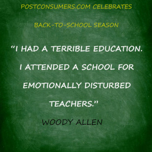 had a terrible education. I attended a school for emotionally ...