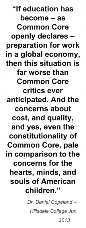 Common Core is un-American and inhuman. To deprive even one child of ...