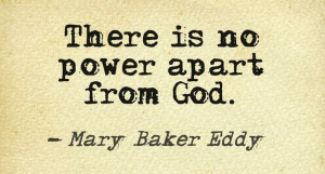There is no power apart from God.