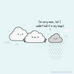 Funny cloud cartoon
