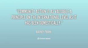 Community action is as valuable a principle on the international level ...