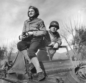 ... and war correspondent Margaret Bourke-White in Italy, 1944