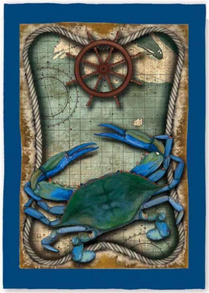 Blue Crab House Flag