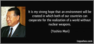 More Yoshiro Mori Quotes