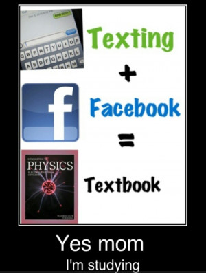 Yes it is hard to not get distracted from Facebook while studying, but ...