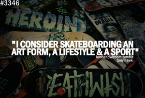 ... skating, if i wasn't a pro skater id still be skating everyday
