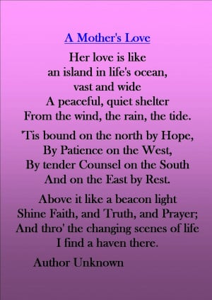 Mothers Day Poem Missing Mom In Heaven Poems