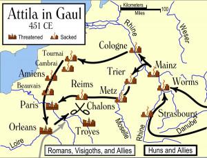 Attila the Hun Sacks Metz, Headed for More Cities in Gaul Hot