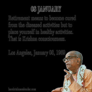 ... quotes of Srila Prabhupada, which he spock in the month of january