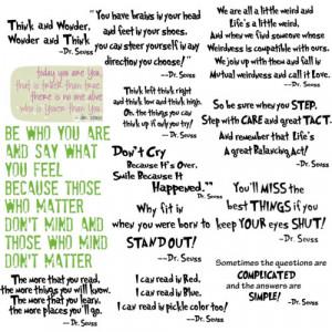 Dr. Seuss Famous Quotes