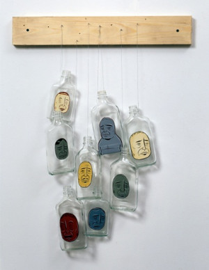 Barry McGee Untitled (8 Bottles), 2003 Paint on 8 bottles, wires and ...