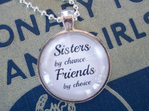 Sister in law quote necklace. Makes a wonderful, meaningful gift!