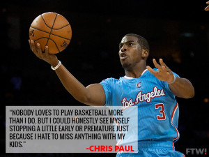 Chris Paul says he might retire early to spend more time with his kids