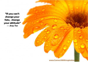 If You Can't Change Your Fate, Change Your Attitude ~ Life Quote