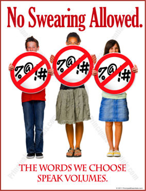 Profanity Prevention Posters