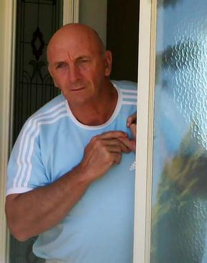 Ian Thorpe's father, Ken, at his Panania home this morning, responds ...
