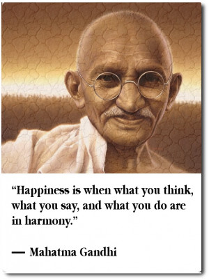 Great quote about happiness by Gandhi.