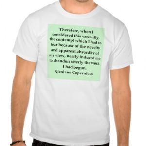 nicolaus copernicus quote t-shirts