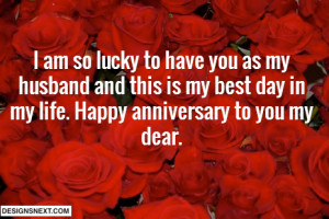 husband and this is my best day in my life happy anniversary to you my ...