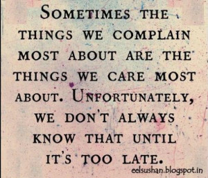 Realizing Things When Its Too Late Quotes