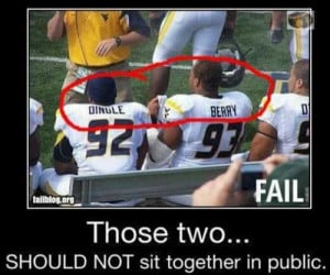 You would think that these two football players would know better...